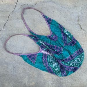 Vintage Greek Colorful Cotton Hippie Hobo Bag